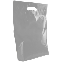 Gray Medium Die Cut Plastic Bag Thumb