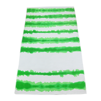 Lime Green Tie-Dye Striped Beach Towel Thumb