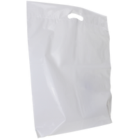 White Extra Large Eco-Friendly Die Cut Plastic Bag Thumb