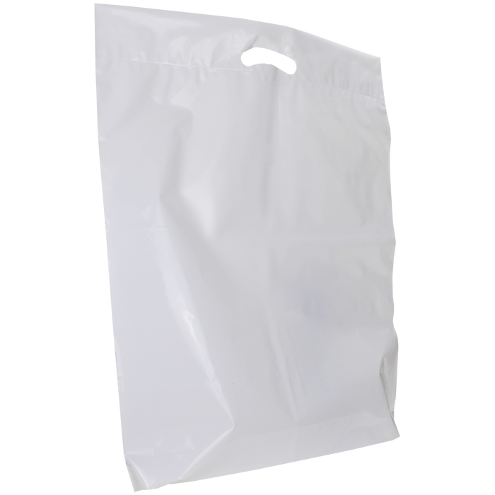 White Extra Large Eco-Friendly Die Cut Plastic Bag
