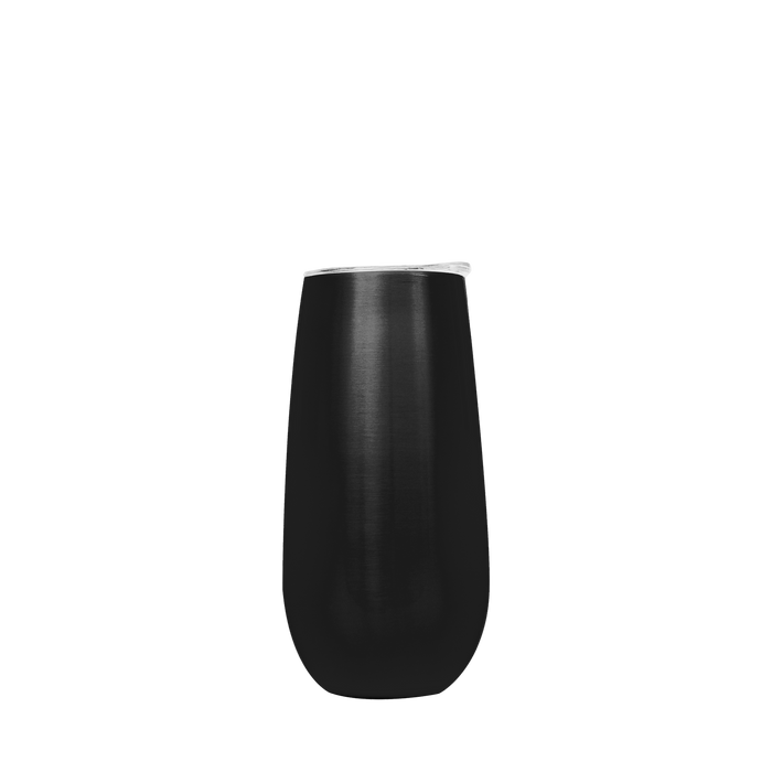 Black Stainless Steel Champagne Flute