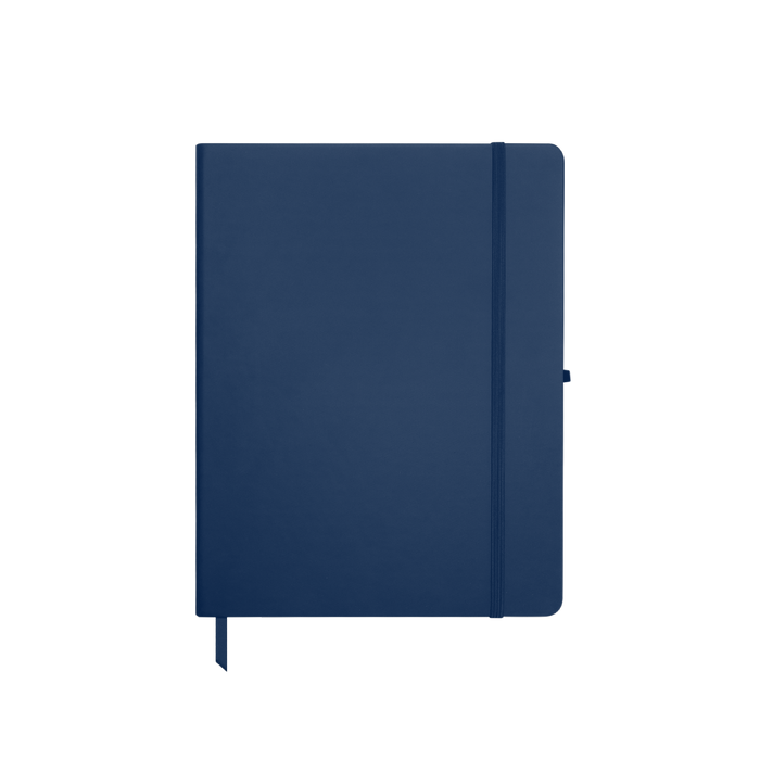Navy Blue Medium Soft Faux Leather Journal