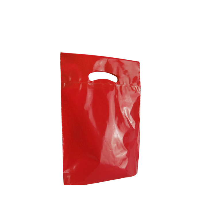 Red Small Eco-Friendly Die Cut Plastic Bag