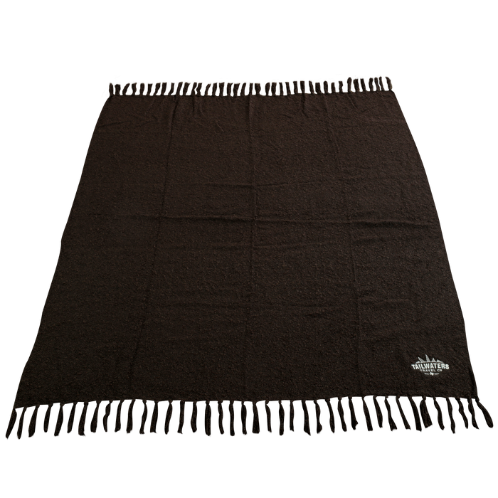 Fringed Woven Throw Blanket