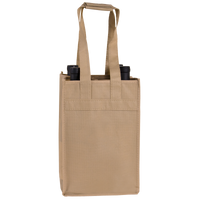 Light Khaki 4 Bottle Wine Tote Thumb