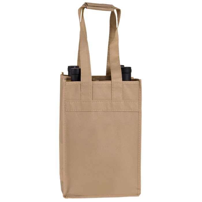 Light Khaki 4 Bottle Wine Tote