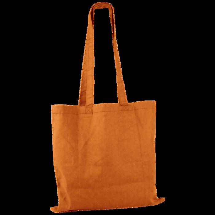 Orange Basic Cotton Tote