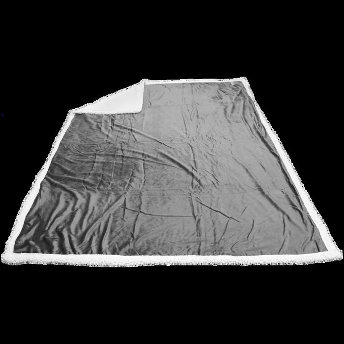 Light Gray Breckenridge Faux Lambswool Blanket