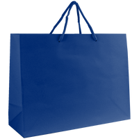 Royal Blue Medium Glossy Shopper Bag Thumb
