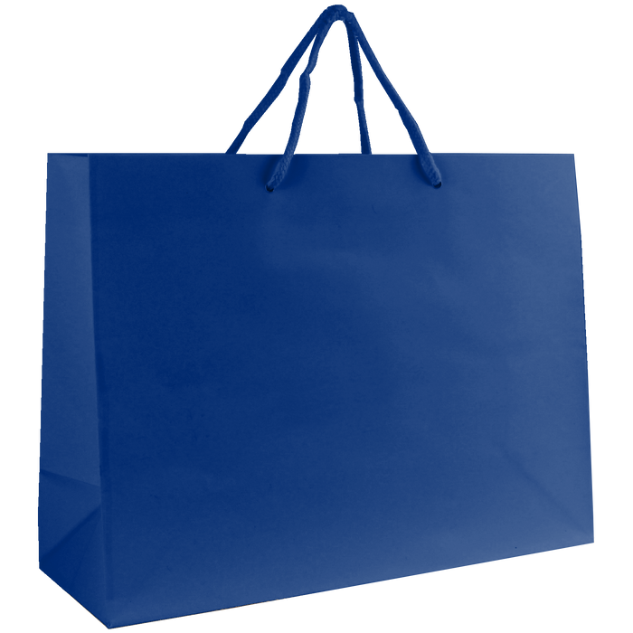 Royal Blue Medium Glossy Shopper Bag