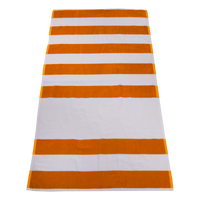 Orange Horizon Striped Beach Towel Thumb