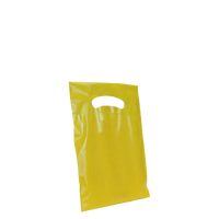 Yellow Extra Small Eco-friendly Die Cut Plastic bag Thumb