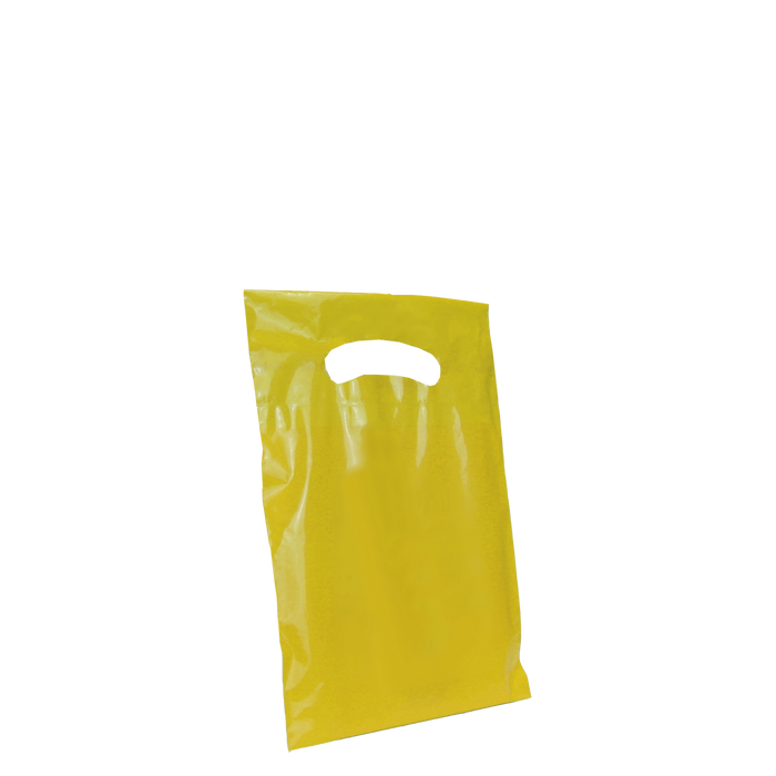 Yellow Extra Small Eco-friendly Die Cut Plastic bag