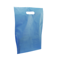 Blue Medium Frosted Die Cut Bag Thumb