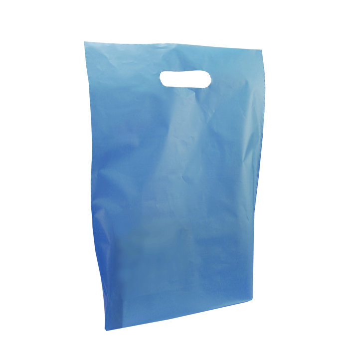 Blue Medium Frosted Die Cut Bag