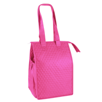 Bright Pink Snack Pack Insulated Cooler Tote Thumb