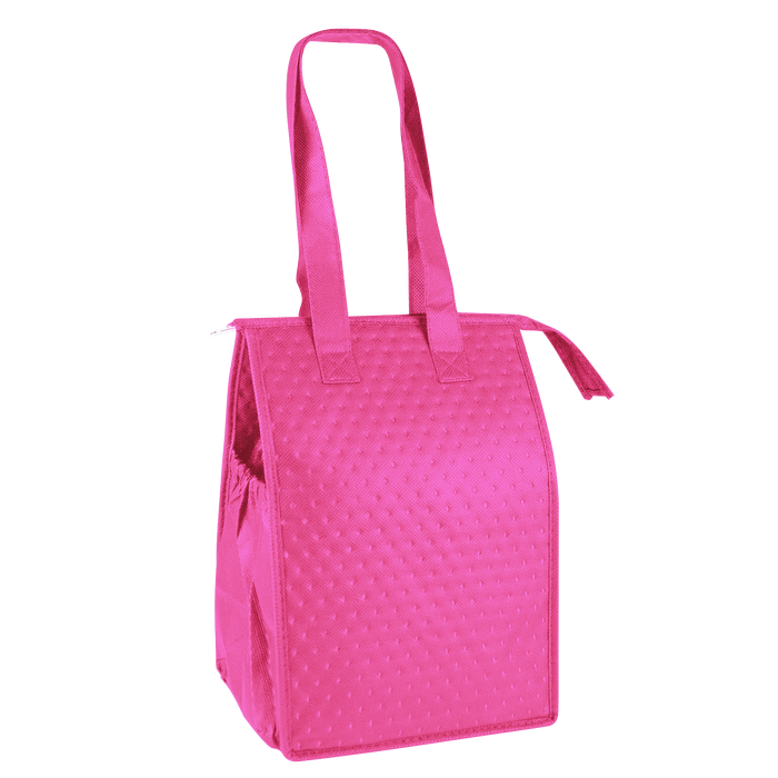 Bright Pink Snack Pack Insulated Cooler Tote