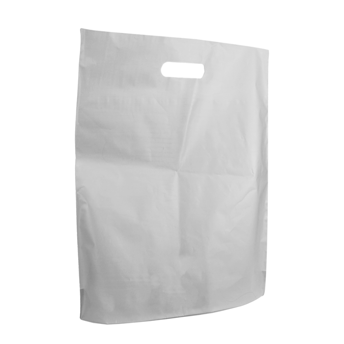 Clear Large Frosted Die Cut Bag