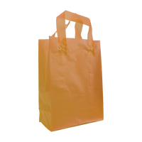 Tangerine Small Frosted Plastic Shopper Thumb
