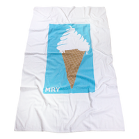 Skysail White Beach Towel Thumb