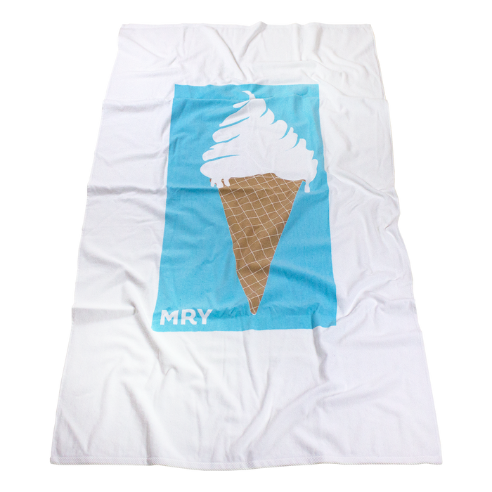 Skysail White Beach Towel