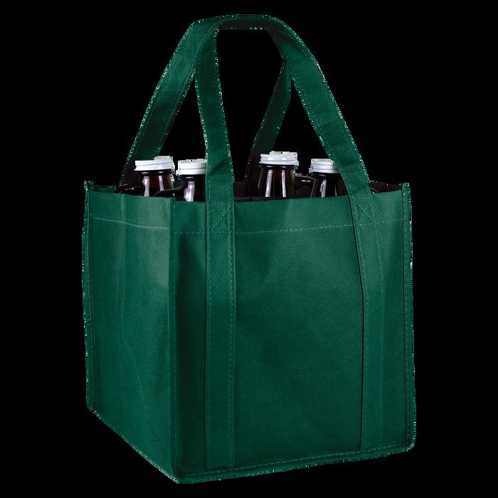 Hunter Green 4 Bottle Growler Tote