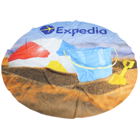 Full Color Round Beach Towel Thumb