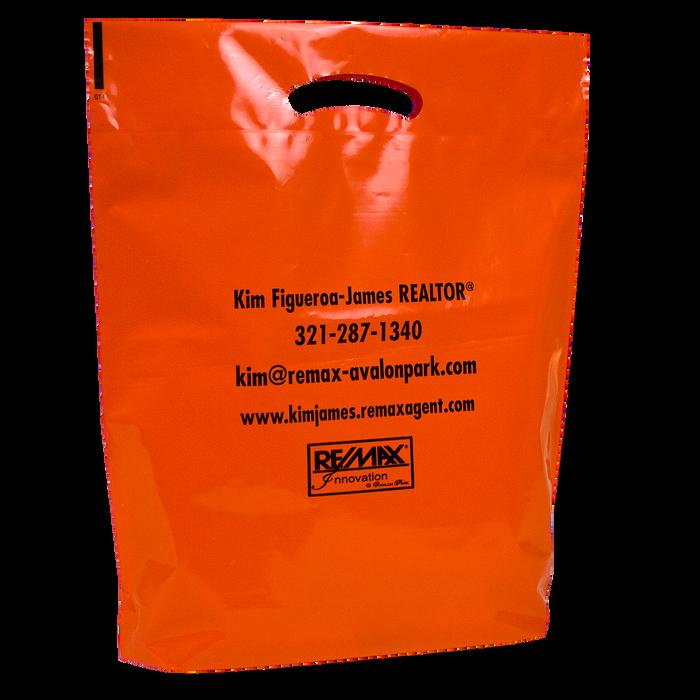 Orange Pumpkin Safety Tips Bag