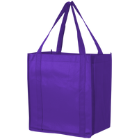 Purple Thrifty Grocery Tote Thumb