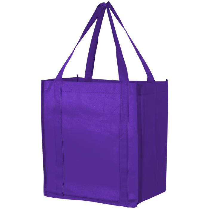 Purple Thrifty Grocery Tote