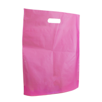 Pink Large Frosted Die Cut Bag Thumb