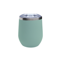 Matte Green Tea Vacuum Insulated Stemless Wine Tumbler Thumb