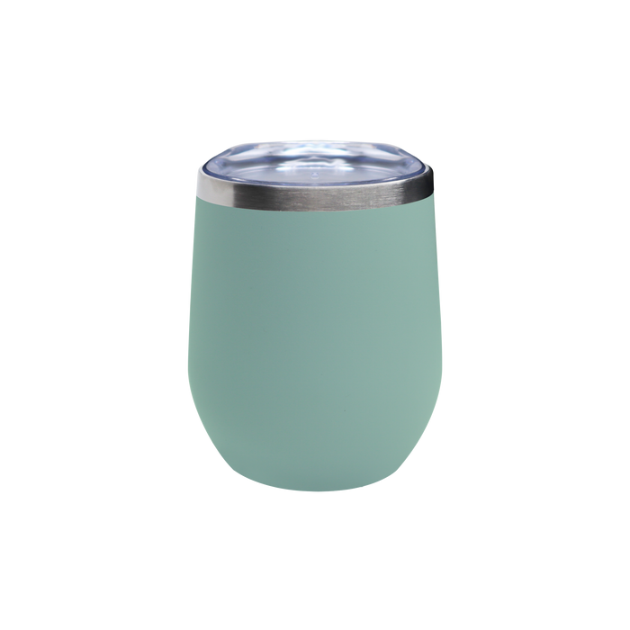 Matte Green Tea Vacuum Insulated Stemless Wine Tumbler