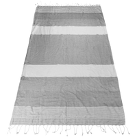 Grey Santorini Fringe Beach Towel Thumb