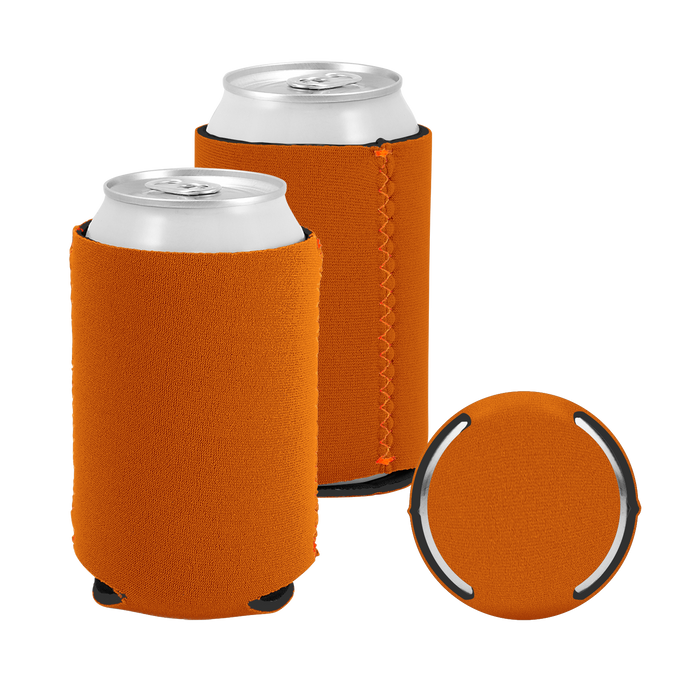 Texas Orange Premium Collapsible Neoprene Koozie