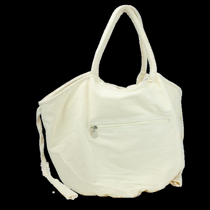 Beige Seaside Reversible Beach Bag