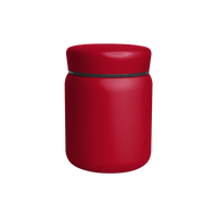 Matte Red Stainless Steel Insulated Food Canister Thumb