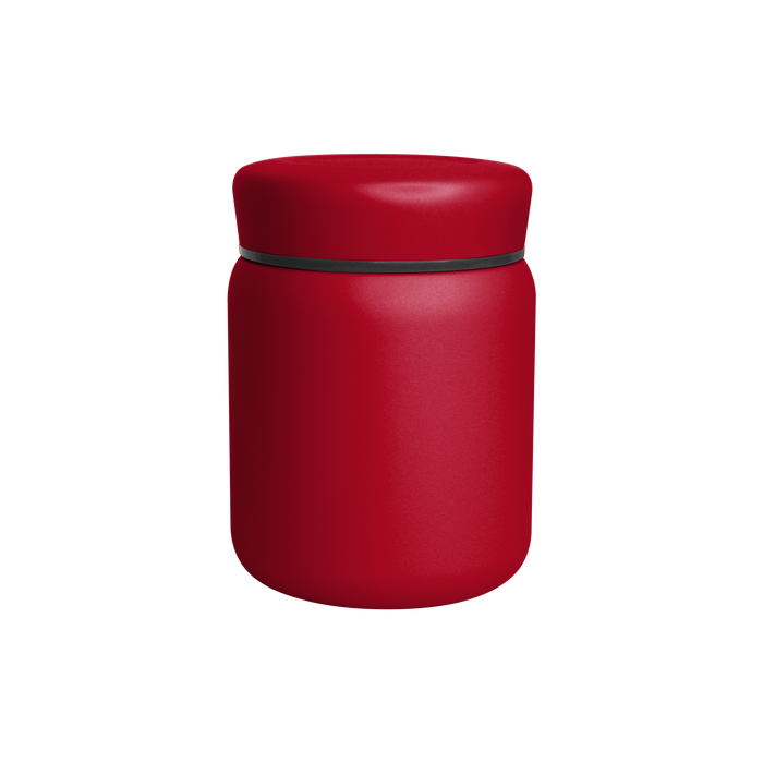 Matte Red Stainless Steel Insulated Food Canister