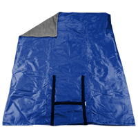 Cobalt Blue Portable Picnic Fleece Blanket Thumb