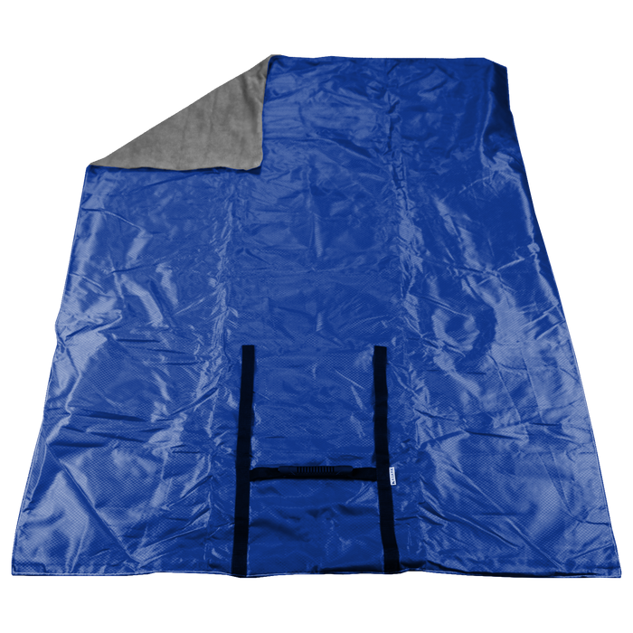 Cobalt Blue Portable Picnic Fleece Blanket