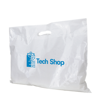 Extra Wide Recyclable Die Cut Plastic Bag