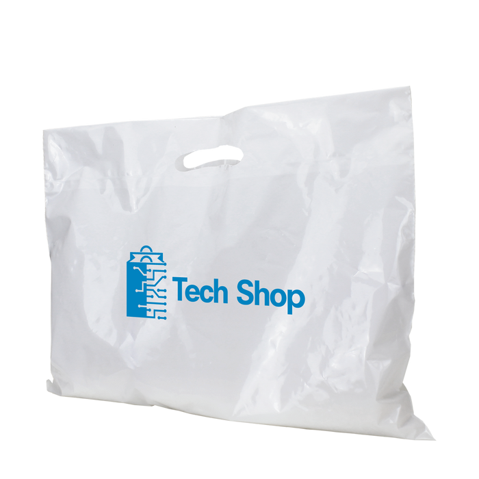 Extra Wide Die Cut Plastic Bag