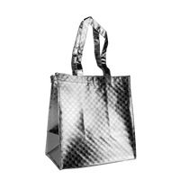 Metallic Silver Metallic Designer Little Storm Grocery Bag Thumb