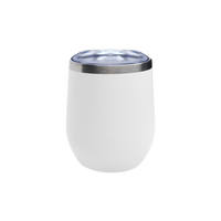 Matte White Vacuum Insulated Stemless Wine Tumbler Thumb