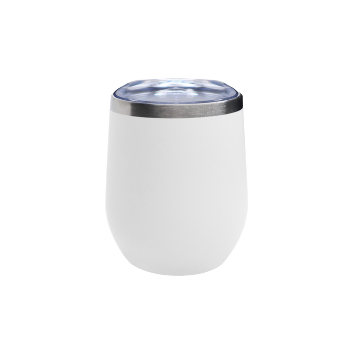 Matte White Vacuum Insulated Stemless Wine Tumbler
