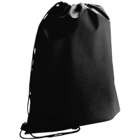 Black Classic Drawstring Backpack Thumb