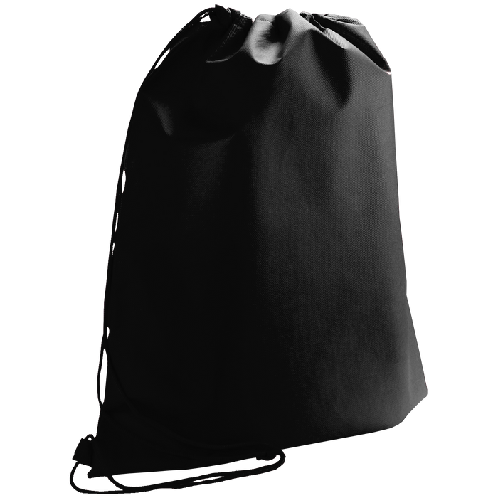 Black Classic Drawstring Backpack