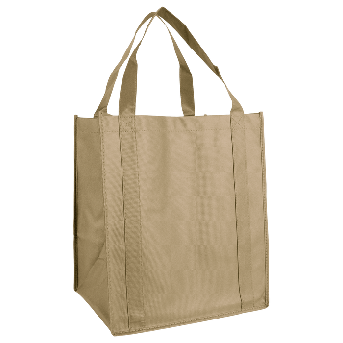 Light Khaki Wine & Dine Reusable Tote Bag