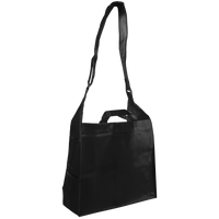 Black Messenger Tote Bag Thumb