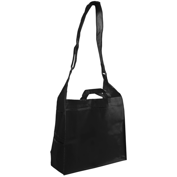 Black Messenger Tote Bag